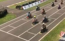 Enggak Kalah Heboh dari MotoGP, Jump Start di Kejurnas OnePrix, Nih Videonya
