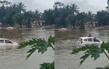 Daihatsu Sigra Isi Satu Keluarga Tenggelam Saat Akan Melayat, 3 Orang Ditemukan Tewas