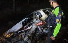 Honda Odyssey Diamuk Si Jago Merah di Tol Jatim, Bocah Usia 14 Tahun Meregang Nyawa