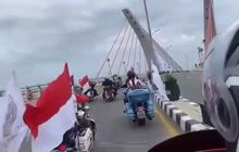Viral, Belum Diresmikan Konvoi Moge Harley-Davidson Lewat Jembatan Alalak I, Apa Kata Nitizen?