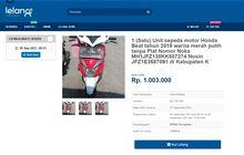 Honda BeAT Dilelang Rp 1 Jutaan, Supra Sampai Vario Rp 200-500 Ribuan