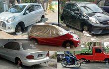 Komplotan Maling Ban di Malang Belum Ketangkap, Brio RS 'Ngambang' Jadi Korban ke-7