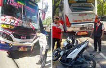 Ngeri, Honda Vario Terlipat Usai Dijepit Bus Sugeng Rahayu Dan Mira di Ngawi