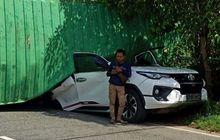 Waduh Kejadian Lagi, Setelah Hyundai Palisade, Kini Toyota Fortuner Ketindihan Kontainer