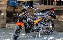 Yamaha Jupiter MX 135 Pakai Pelek Palang Tiga, Part-partnya Istimewa