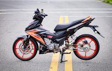Modal Ubahan Impresif di Kaki Bikin Honda Supra GTR 150 Tambah Manis