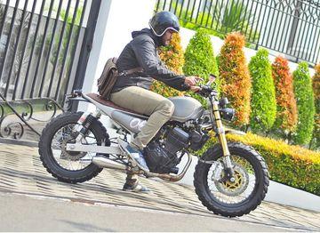 Keren Nih! Kawasaki Ninja 250 Jadi Scrambler, Custom Biar Lebih Laki