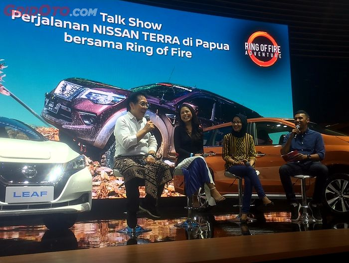Youk Tanzil bercerita soal perjalanan saat di Papua menggunakan All New Nissan Terra