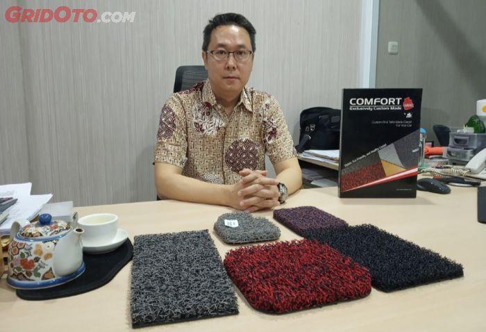 Susanto Widjaja, Direktur PT Performa Indo Lestari, distributor Comfort Carpet.