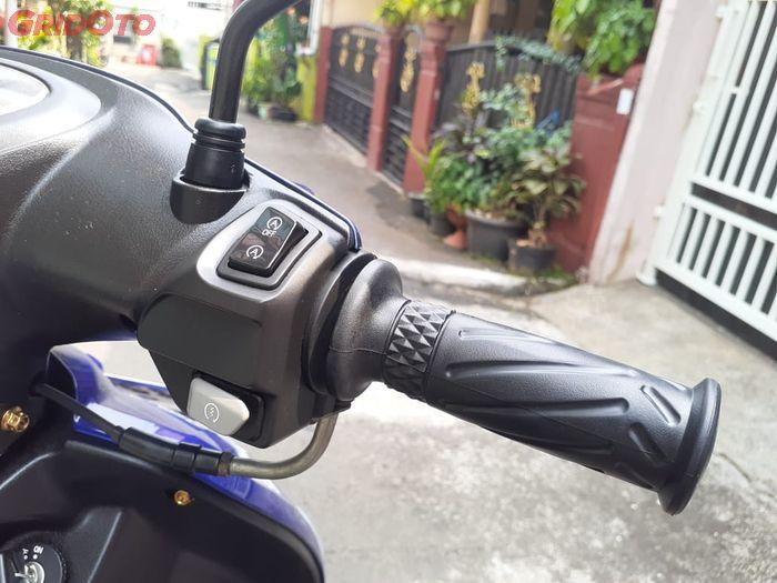 Terpasang saklar Yamaha Aerox pada Yamaha Mio Smile