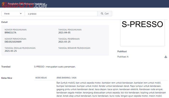 Suzuki Motor Corporation (SMC) telah mendaftarkan nama S-Presso di Indonesia.