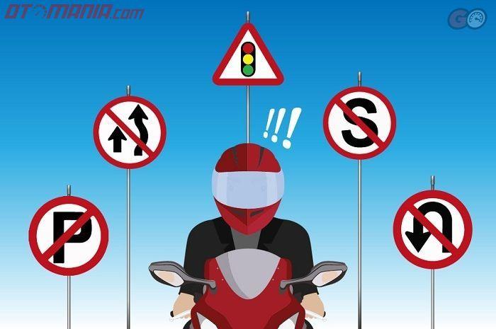 Ilustrasi rambu lalu lintas yang paling sering dilanggar