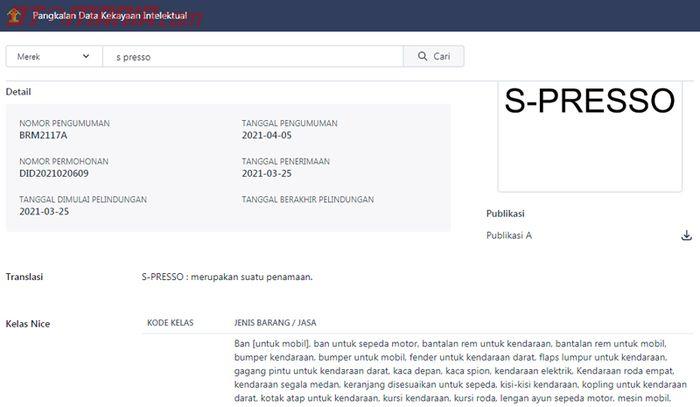 Suzuki daftarkan nama S-Presso di Indonesia