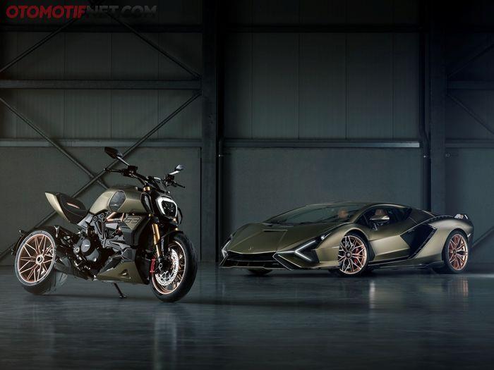 Inspirasi Diavel 1260 Lamborghini dari Lamborghini Sian FKP 37