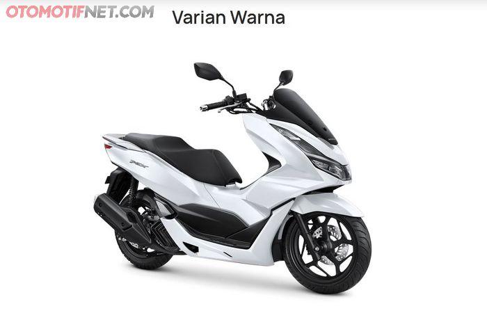 Honda PCX 160 putih juga dapat ditemukan di situs AHM