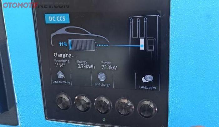 Isi daya mobil listrik MG ZS EV butuh daya 74 menit dari 11 persen