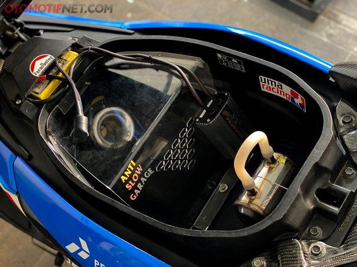 Bagasi dicoak habis karena throttle body GSX-R150 menempel pada intake model down draft