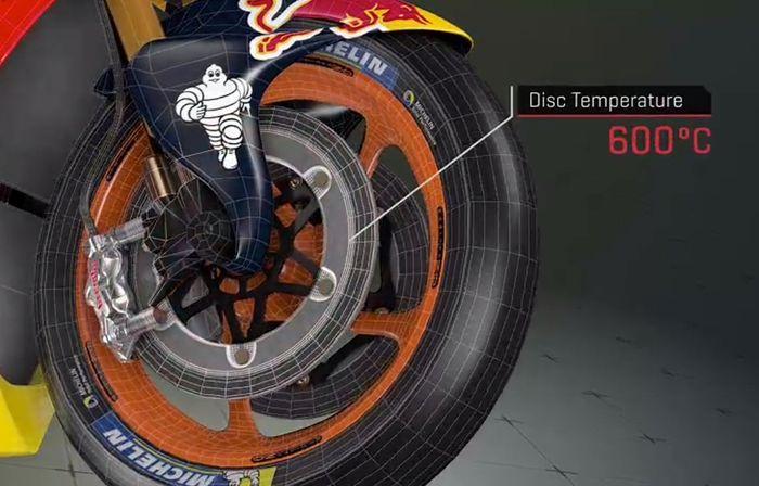 MotoGP Suhu piringan rem bisa mencapai 600 derajat Celcius