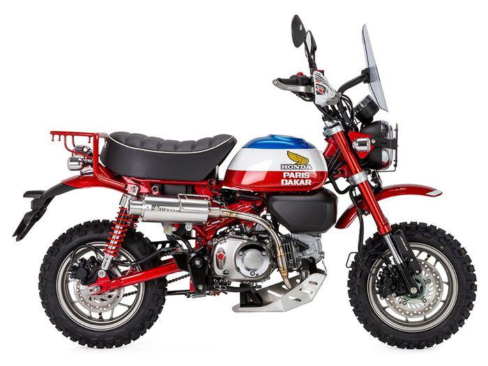 Tampilannya dibuat seperti Honda XL125R Paris-Dakar