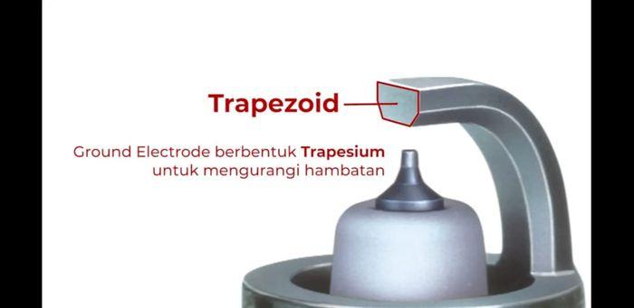 teknologi Trapezoid busi NGK LKAR6AGP