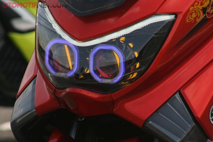 Headlamp Yamaha NMAX dirombak pakai dari AES, seakan melotot