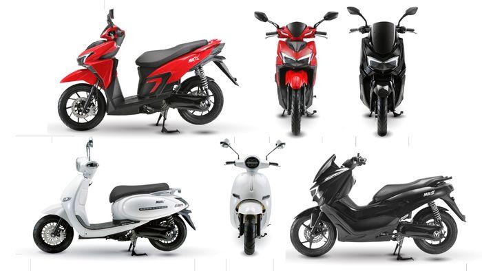 Line up skuter listrik MBI, ada yang mirip NMAX, Vario dan satu lagi skutik bergaya retro modern