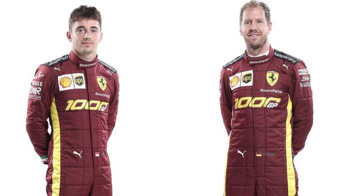 Baju pembalap Ferrari di F1 Tuscan 2020