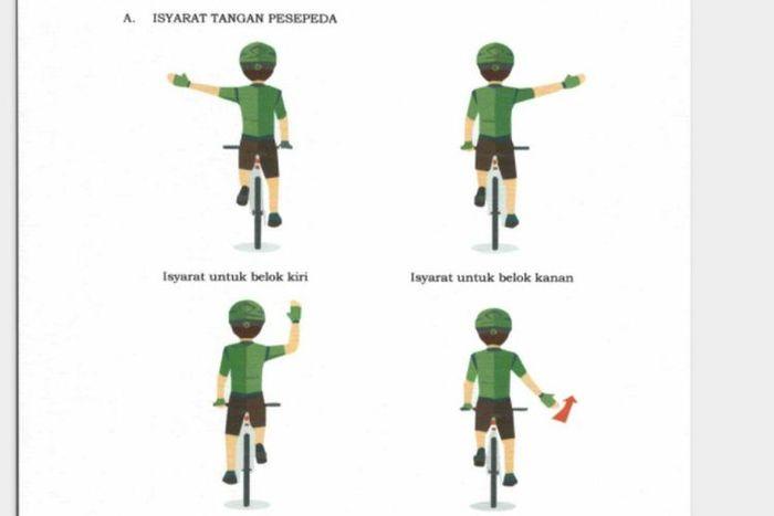 Isyarat pesepeda yang wajib diketahui pengguna kendaraan bermotor