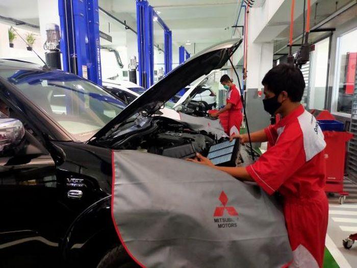Layanan servis di dealer Mitsubishi Sun Star Motor - A. Yani, Surabaya