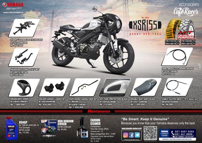Ragam aksesoris Cafe Racer untuk Yamaha XSR 155