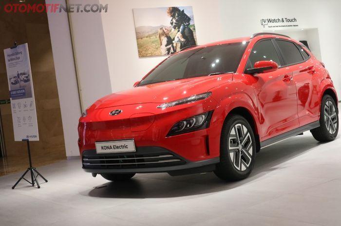 Hyundai Kona Electric Facelift sudah dipajang di showroom Hyundai