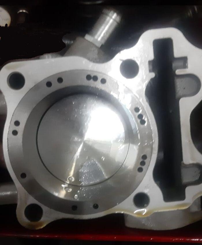 Piston 66 mm tertanam dengan model dome cekung 2 mm