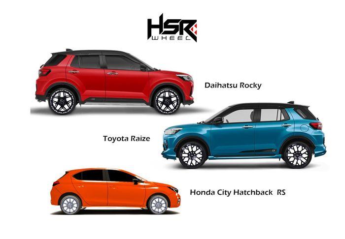 Ada 3 pilihan pelek HSR baru yang disesuaikan dengan desain Raize, Rocky dan City Hatchback