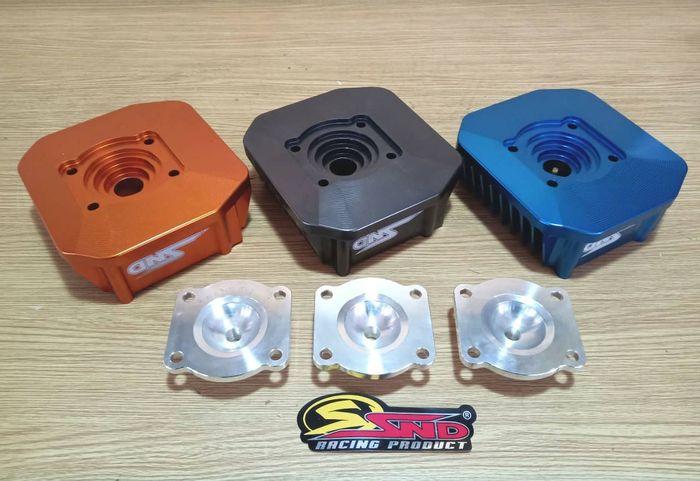 Kubah ruang bakar head Yamaha 125Z bikinan SND Racing bisa dilepas pasang, cari kompresi jadi mudah!