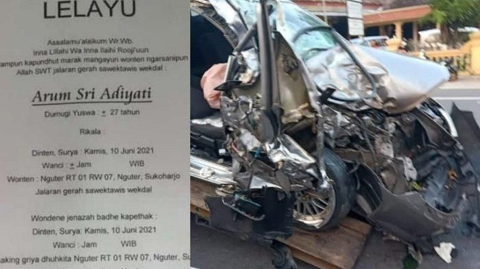 Pengemudi Honda City berusia 27 tahun warga NGuter yang Kecelakaan di Wonogiri Meninggal dunia Warga Nguter