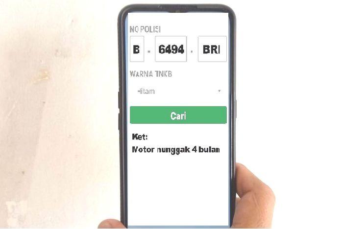 Foto ilustrasi debt collector ada mata elang punya aplikasi khusus motor sedang kredit macet