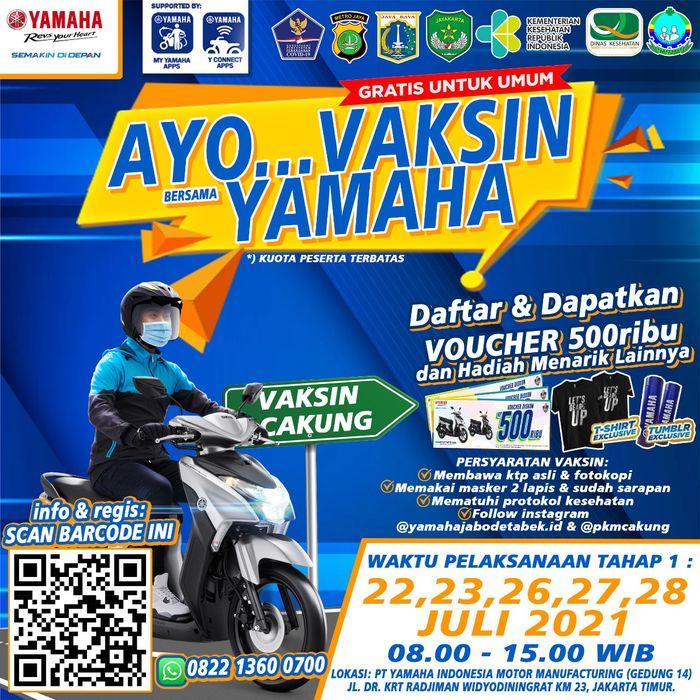 Yamaha Bareng Pemerintah Kota Jakarta Timur Gelar Vaksin Gratis