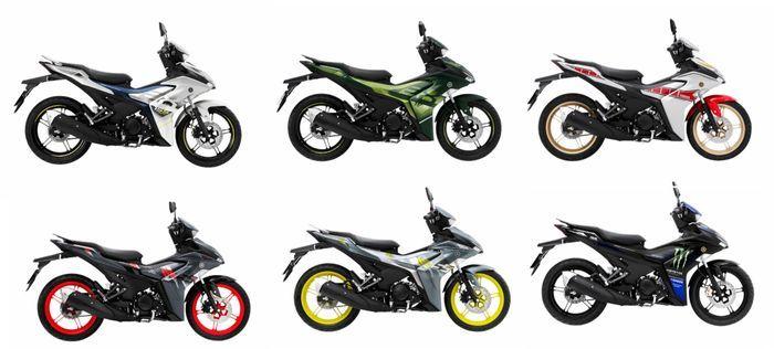 4 pilihan warna Yamah Exciter Limited Edition, dan 2 edisi MotoGP.