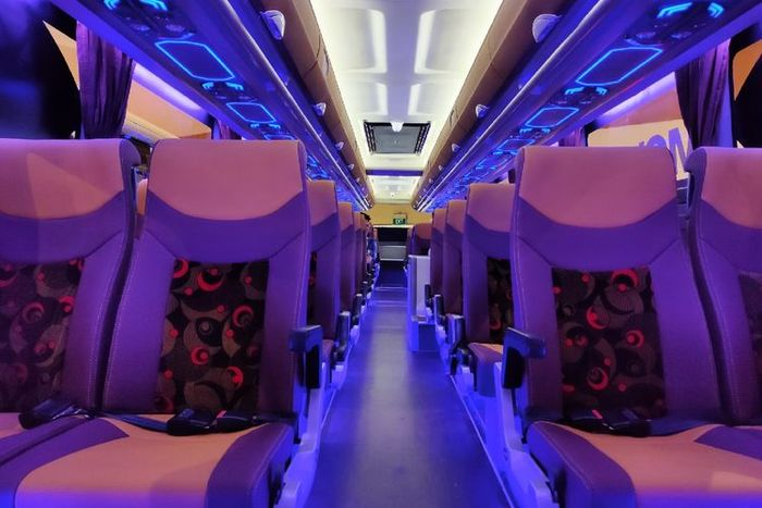 Ilustrasi kabin bus (Kompas.com/Fathan Radityasani)