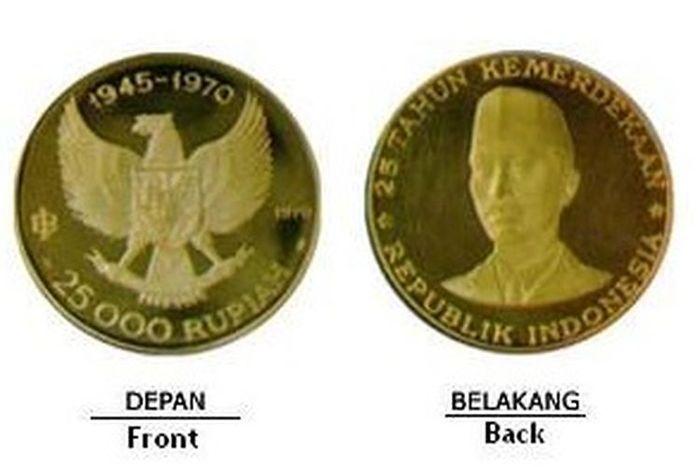 Uang logam emas murni dari Bank Indonesia(Uang logam emas murni dari Bank Indonesia)