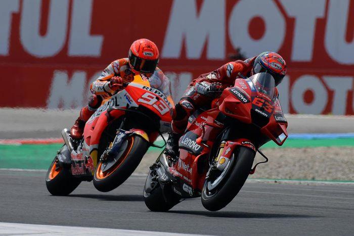 Francesco Bagnaia (#63) mampu kalahkan Marc Marquez di MotoGP Aragon 2021 (12/9)