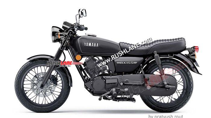 detail tampilan Yamaha RX 155 berkelir hitam