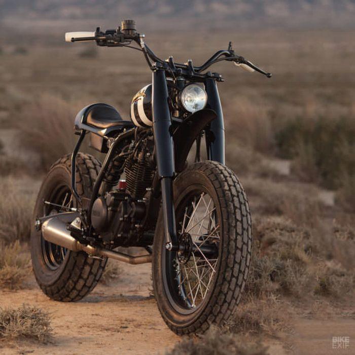 Yamaha TW125 kustom scrambler oleh Dumbador