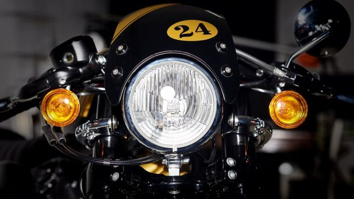 Harley-Davidson Sportster 1200 custom cafe racer dari Onorio Moto