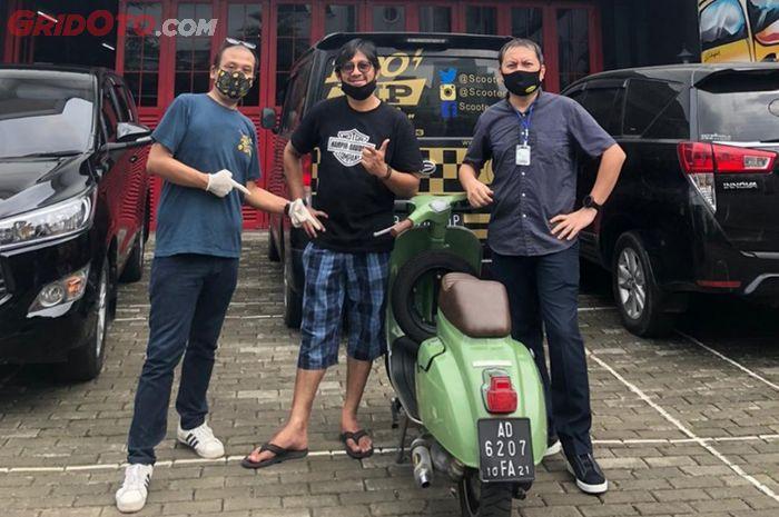 Vespa PTS Andre Taulany siap direstorasi oleh Scooter VIP, distributor resmi Polini dan Malossi
