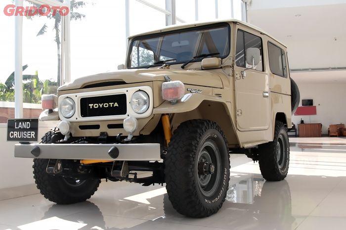 Salah satu Toyota Land Cruiser FJ40 atau Toyota Hardtop yang dipajang di WIsma Jip.