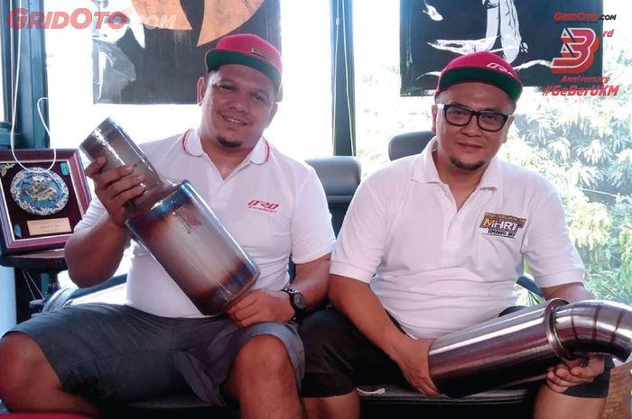 Pendiri ORD Exhaust, Odi Rachmat dan rekannya Adhit K.