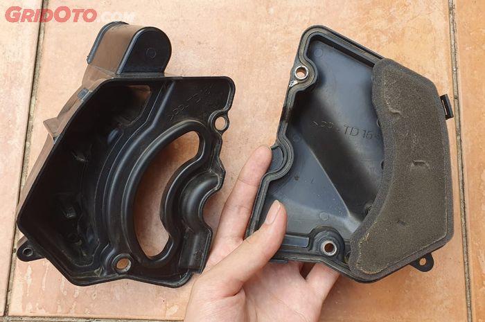 Ilustrasi boks plastik filter CVT motor matic