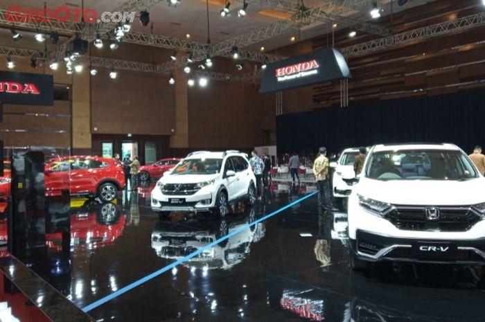 Ilustrasi. Booth Honda pada pameran otomotif di Kemayoran, Jakarta.