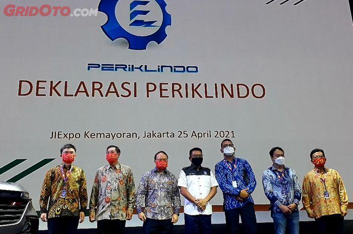 Deklarasi Periklindo di pameran otomotif di JiExpo Kemayoran, Minggu (25/4/2021).